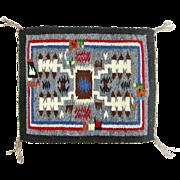 SALE Hand Woven Storm Pattern Rainbow Man Navajo Weaving, Tapestry, Ca. 1970's
