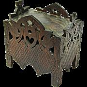 Folk Art Strawberry Carved Storage Box, Ca. 1920-30