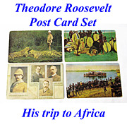 Theodore Roosevelt's African Hunting Trip, Boxed Postcard Set, 1909