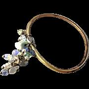 Bronze, Oval, Bangle bracelet, Larimar, Labradorite bracelet, Opalite, Pearl charms, Camp Sund