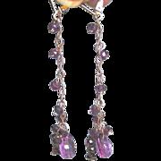 SALE Dripping Garnets Earrings, Rose Gold, Mystic pink quartz, Rose Gold earrings, Gem Bliss