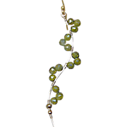 Green Twig earrings CZ branch earrings Camp Sundance Gem Bliss