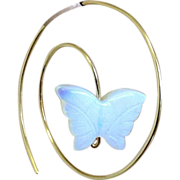 Opalite hoop earrings, Bridal, Gold filled, Butterfly Spiral, Camp Sundance, Gem Bliss