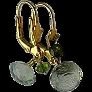 Green Amethyst earrings, Prasiolite briolettes, Camp Sundance earrings,Gem Bliss, Camp Sundanc