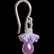 SALE Sterling Silver earring juicy grape floral cluster Camp Sundance