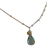 Moss Aquamarine necklace, Neon Apatite, Labradorite, Camp Sundance, Gem Bliss