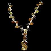 SALE Petro Tourmaline Necklace, 14K,18K, cascade necklace, Vermeil, Gold filled, Camp Sundance