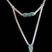 SALE Amazonite layering necklace Silver Amazonite necklace Camp Sundance Gem Bliss