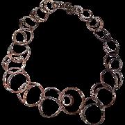 SALE Long Copper Necklace Handmade Statement Necklace Bold Metalwork Gem Bliss