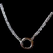 Eternity Copper circle pendant, Copper layering necklace, Camp Sundance, Silver Eternity neckl