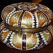 Large Art glass Moser? Bohemian dresser box
