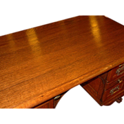 Fabulous quartered oak executive desk