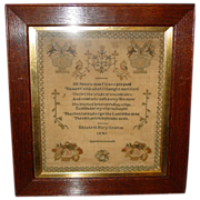 Sampler by Elizabeth Mary Grattan---1841
