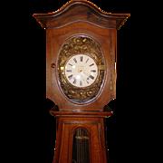 Impressive French tall case clock--Morbier--A. Aubin