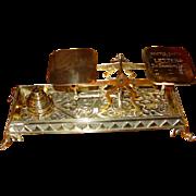 Nice brass desk top postal scale--dog head feet----14986