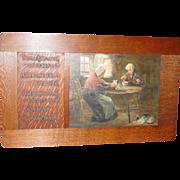 Oil on board 'The Selkirk Prayer Robert Burns artist signed C H Cunningham
