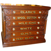 Clark 6 drawer spool cabinet with bird motif