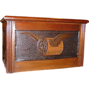 4 drawer Willimantic 'flying winged spool' thread cabinet