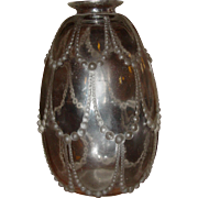 R Lalique Perles pattern vase---excellent
