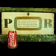 Wonderful 19th century miniature blanket chest