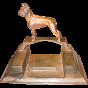 Cast iron boot scraper---figural dog----excellent detail