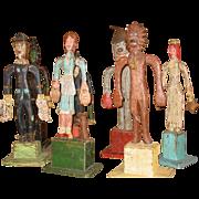 Rare Kent Gutzmer carved folk art Wizrd of OZ---7 figures
