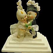 Vintage Wedding Bisque Porcelain Kewpie  Figurine