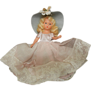 Vintage Storybook Composition Doll Blonde Hair