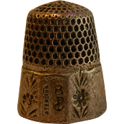 Very Old Sterling Silver Thimble Size 8