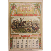 Vintage Centennial Home Insurance Advertisement Calendar August 1876