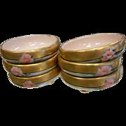 Vintage Set of Six Salt ot Nut Czechoslovakia Porcelain Dishes