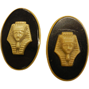 Vintage 1930's Celluloid Plastic Buttons Egyptian King Tut