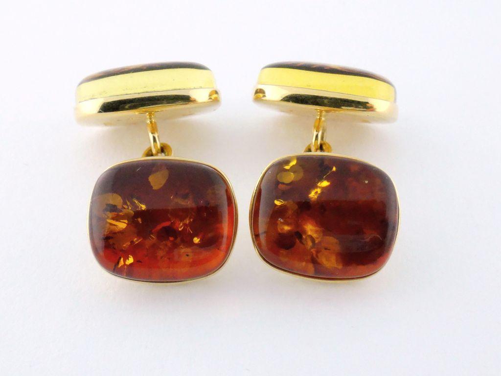 Estate Trianon 18K Yellow Gold Amber Scorpion Scorpio Cufflinks From Syosseta