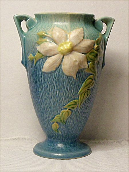 Lovely Roseville Clematis Vase 111 10 Circa 1944 From Rubylane Sold On Ruby Lane