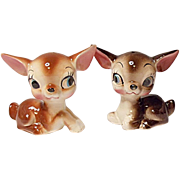 SALE SAVE 20% - Vintage - Made In Japan - Sweet Little Deer Salt and Pepper Shaker Set