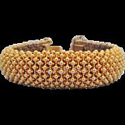 Ciner Classic Flexible Arched Goldtone Bracelet