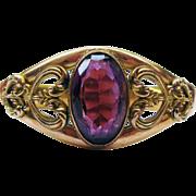 Antique Edwardian Gold Filled Amethyst Paste Bracelet