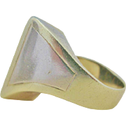 14K Bi-Color Gold Modernist Ring