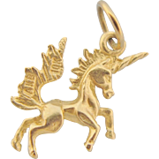 10K Gold Unicorn Charm Three Dimensional