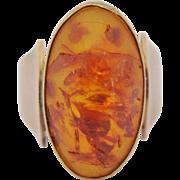Vintage Amber 8 Kt. Gold 333 Ring Size 4 1/2
