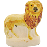 Antique 19th Century Staffordshire Miniature Standing Lion