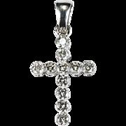 .75ctw Diamond Cross Pendant 14k Gold
