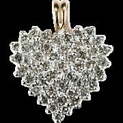 1.44ctw Natural Diamond Heart Pendant 10k Gold ADL
