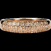 SALE Diamond Stacking Ring 14k Rose Gold Engagement Wedding Band