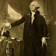 SOLD 1907 Antique President Portrait 'George Washington' - Fine Art, Gravure Print, White Hous