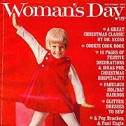 SOLD Holiday December 1966 Woman's Day Magazine – Christmas / Fashion / Recipes / Decorati