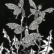 SOLD 1925 'Silver Pennies', Fairies, Poetry, Illustrations, Elves, Literature, Fantasy