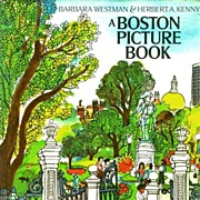 SOLD 1970's 'A Boston Picture Book', DJ, RARE First Edition, Art, Historical Landmarks