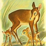 SOLD 1941 'Walt Disney's' Bambi, Lithograph Illustrations, 1st Ed, SCARCE, Felix Salten, Vinta