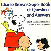 SOLD CHARLIE BROWN'S 1970's Super Book Questions & Answers - Comic Strips / Snoopy / Animation
